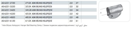 Askı Bilyası Kelepçesi Fiyatı