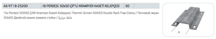 Isı Perdesi 50x50 Çiftli Kramiyer Kaseti Kelepçesi Fiyatı