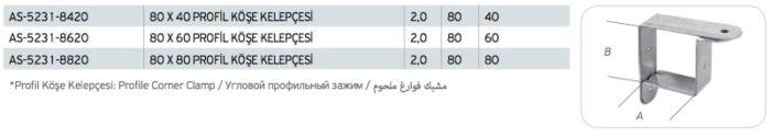 Profil Köşe Kelepçesi Fiyatı